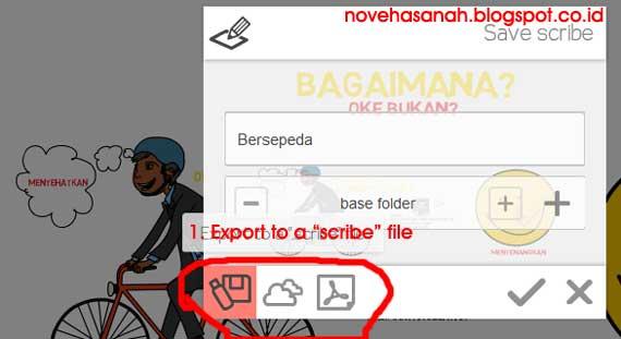 """Jika kita menggunakan pilihan pertama atau """"Export to a scribe file"""" maka kita akan dapat menyimpan file scribe pada komputer kita. Biasanya pada bagian desktop komputer, yang selanjutnya dapat dipindahkan dengan cut-paste file tersebut ke lokasi (drive dan folder) yang kita inginkan."""