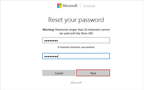 reset windows 10 Microsoft account forgotten password