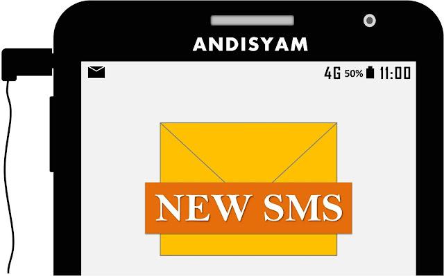notifikasi pesan sms baru di hp