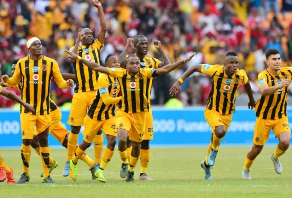 Kaizer Chiefs celebrating.