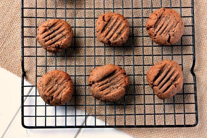 Choco Peanut Butter Chia Seed Cookies