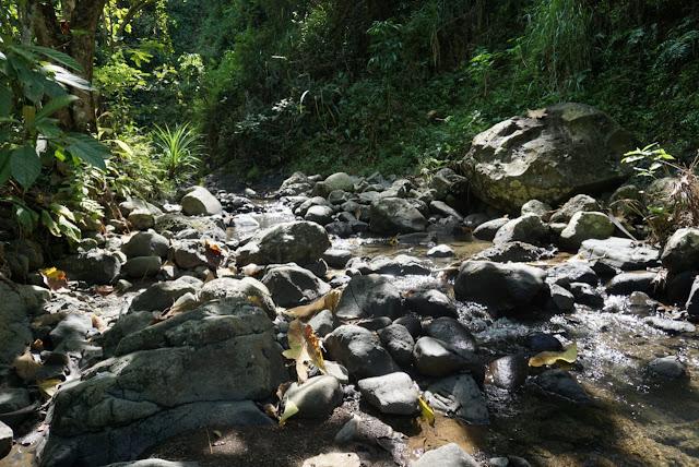 menyusuri sungai menuju curug sidoayu kebumen