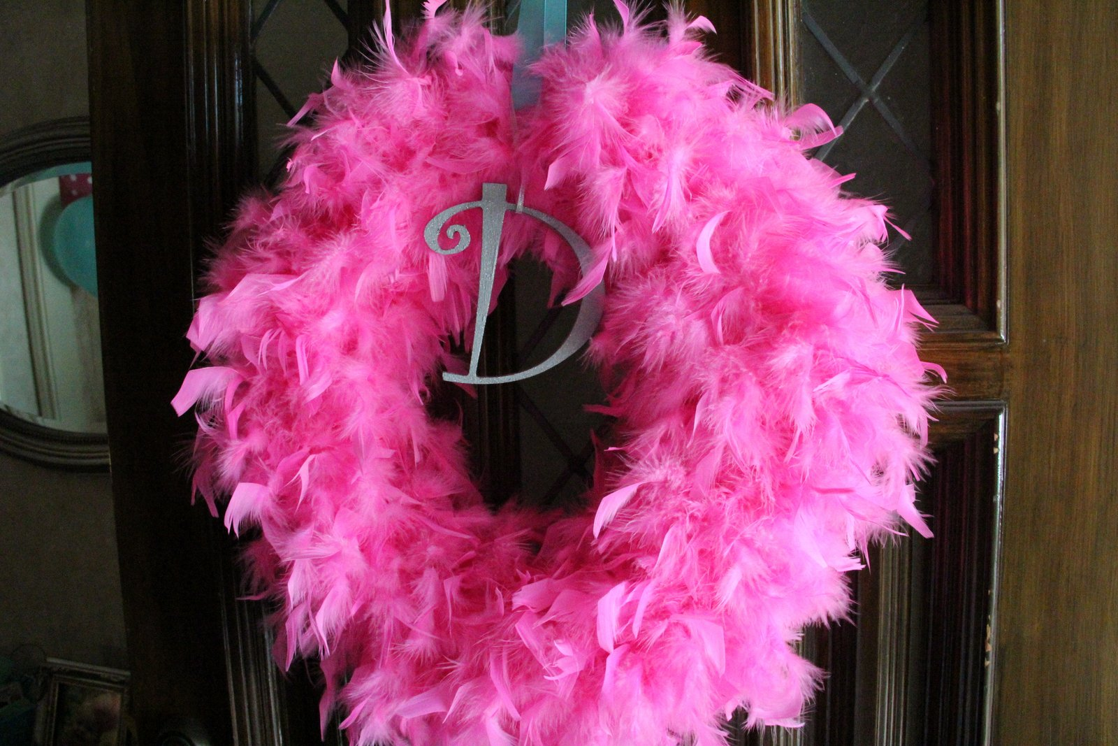 Lambie Blog Diy Feather Boa Wreath