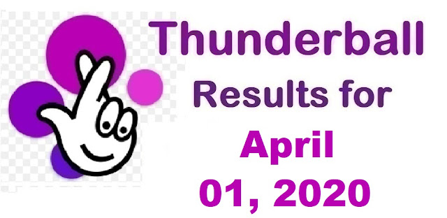 Thunderball Results for Wednesday, April 01, 2020