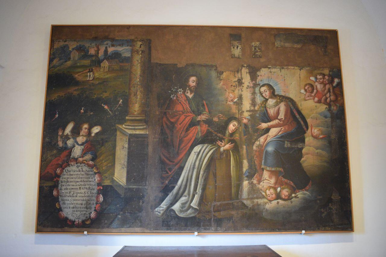 pintura crista jesuita antiga