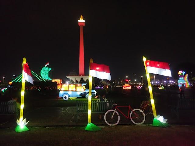 Gemerlap Cahaya di Festival of Light, Monas Week 2019