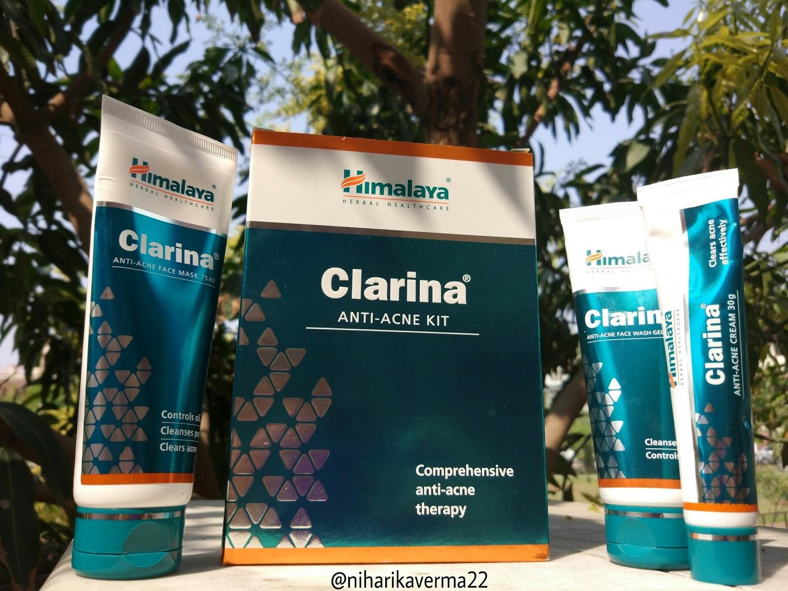 Himalaya Herbal Healthcare Clarina Anti Acne Kit Review The Pink Velvet Blog