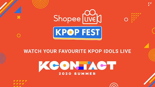 KCON, Live Stream, Korean Culture Festival, Korean Culture Festival Live, Shopee, CJ ENM, Online Shopping, Shopee Live Kpop Fest, Shopee Live, Lifestyle