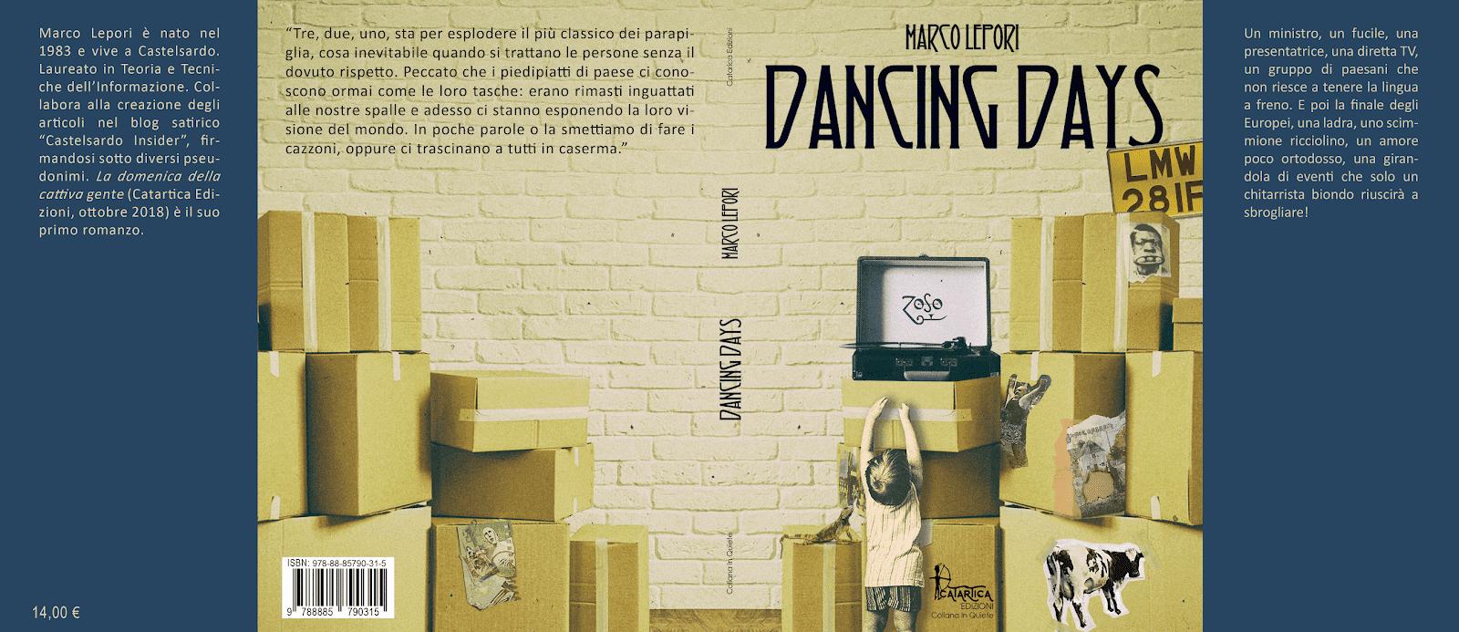 """Gli undici omaggi nascosti nella copertina di """"Dancing Days"""", il secondo romanzo di Marco Lepori"""