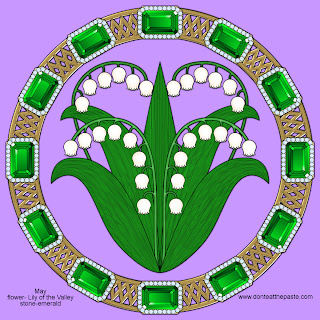 May is Lily of the Valley and Emeralds