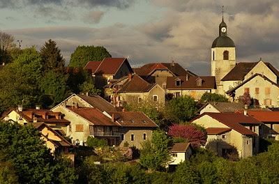 Light and clouds on Chaumont Village