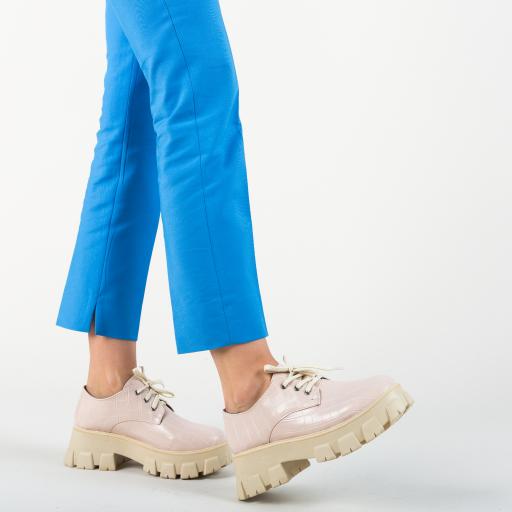 Pantofi causal femei bej cu talpa groasa in tendinte