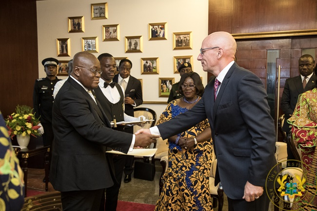 """""""Let's Strengthen Economic Cooperation Between Our Countries"""" – President Akufo-Addo To 4 Envoys"""