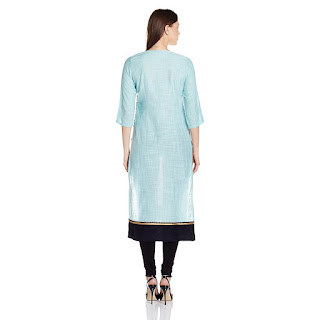 Cotton W Kurta from FashionDiya 4% Cashback