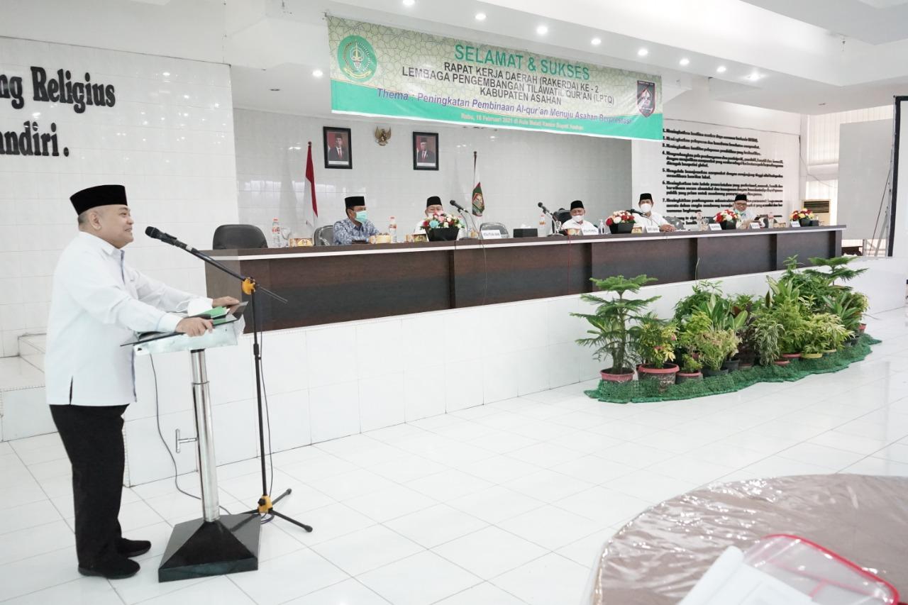 Buka Rakerda ke-2 LPTQ Kabupaten Asahan, Bupati Harapkan Pengurus Bekerja Optimal