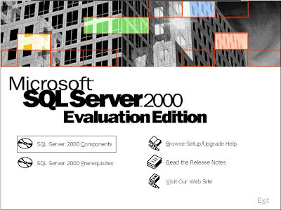 Clique em SQL SERVER 2000 Components