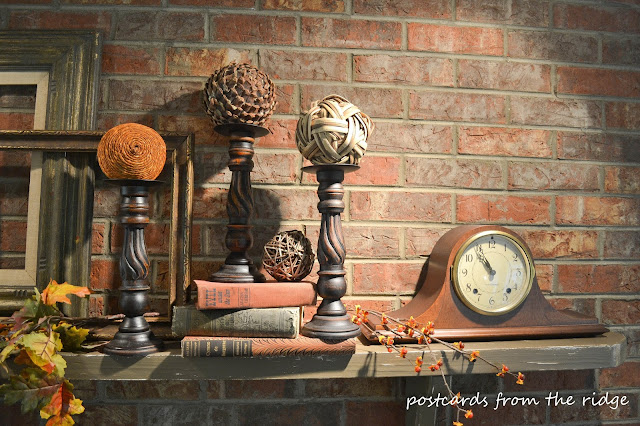 Postcards from the Ridge: Fall mantel decorations