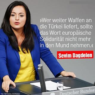 البرلمانية الألمانية سيفيم داكدلين تشن هجوماً على السياسات الألمانية لإستمرارها في تقديم الاسلحة إلى النظام التركي