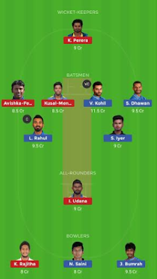 SL vs IND Dream11 team prediction