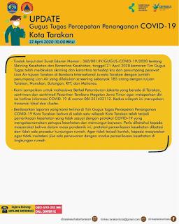 Press Release COVID-19 Tarakan 22 April 2020 - Tarakan Info