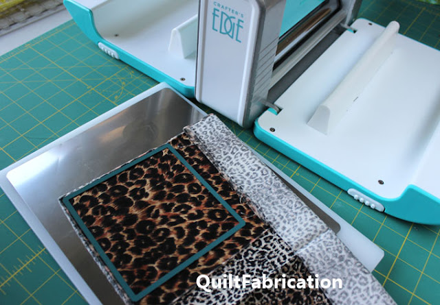 fabric on a tray for die cutting