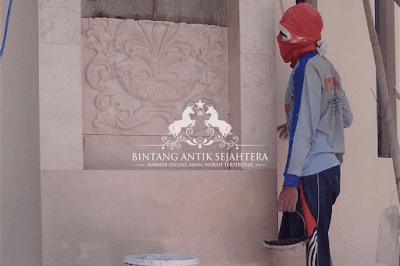 Proses Pemasangan Dinding Marmer