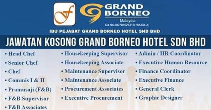 Kerja Kosong Sabah 2021 | Pelbagai Jawatan - GRAND BORNEO HOTEL