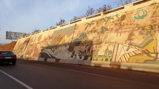 Art in Bamako with big paintings