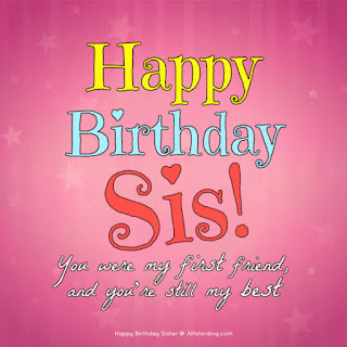 Happy birthday images, Sister birthday images