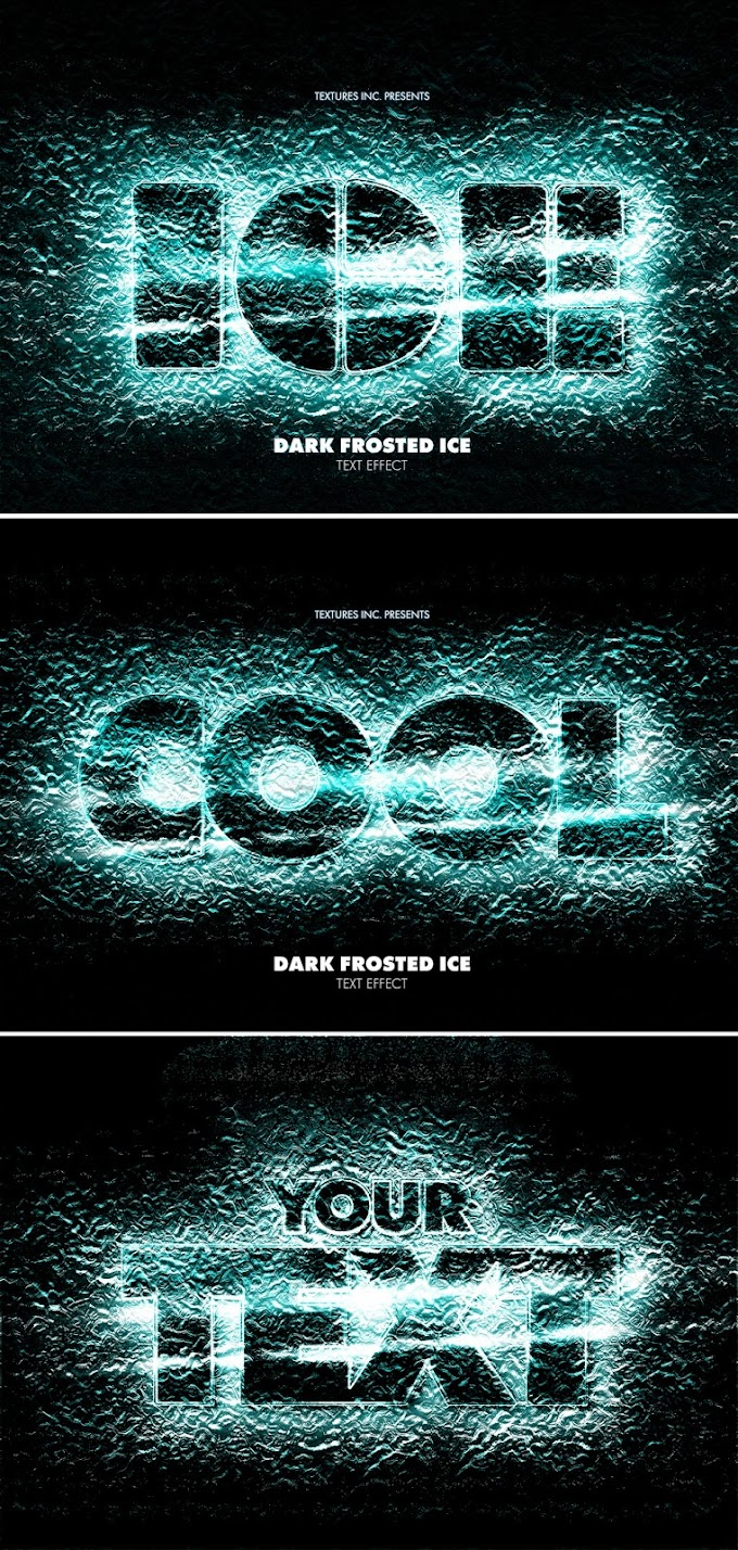 Black Frosted Ice Text Effect Mockup 383358485