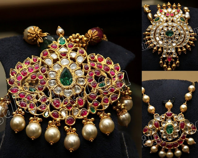 Regal Kundan Pendants by PMJ Jewellers