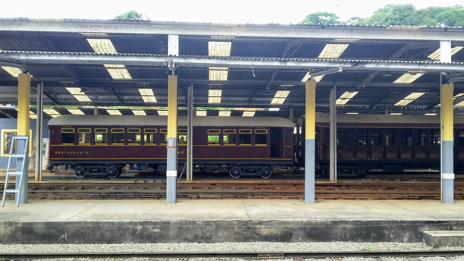 Locomotivas em exposição - Acervo da Estação de São Lourenço