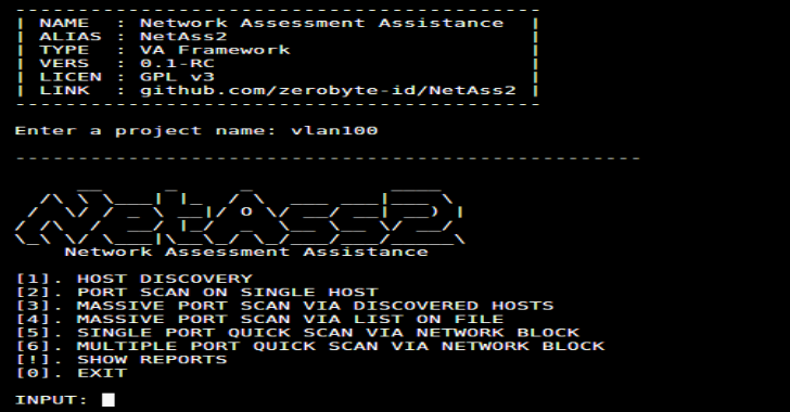 NetAss2 : Network Assessment Assistance Framework (PenTest Toolkit)