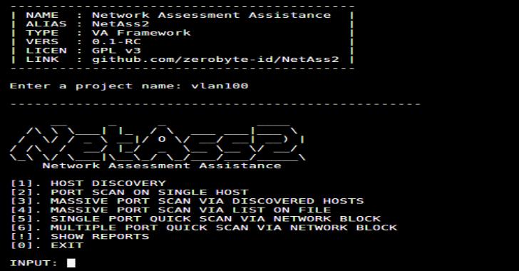 NetAss2 : Network Assessment Assistance Framework (PenTest Toolkit)