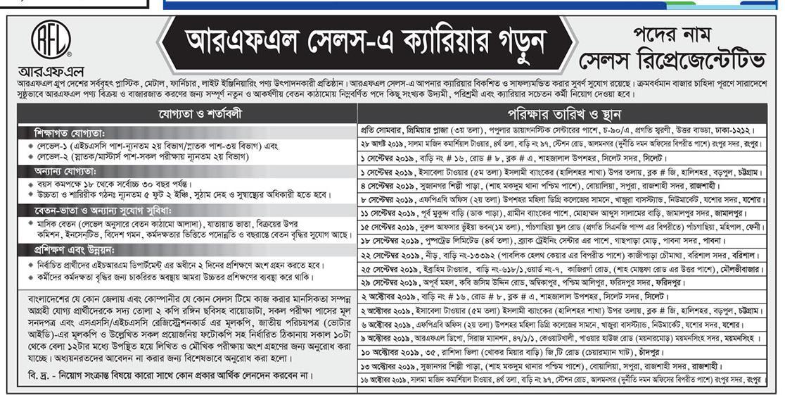Pran-RFL Group Job Circular | BD RESULTS 360 - MR Laboratory