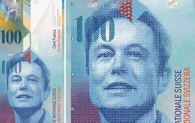 The Face Of Elon Musk On the 100 Franc Note