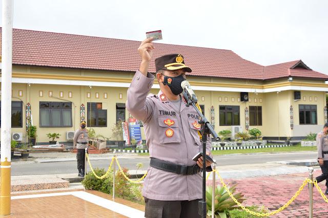 Tingkatkan Kedisiplinan Personel, Sipropam Polres Barsel Gelar Kegiatan Gaktiblin