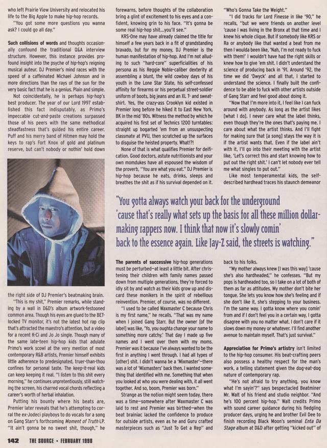 DJ Premier The Source 1998 Alchemy of a Beat Chairman Mao Hip Hop Nostalgia