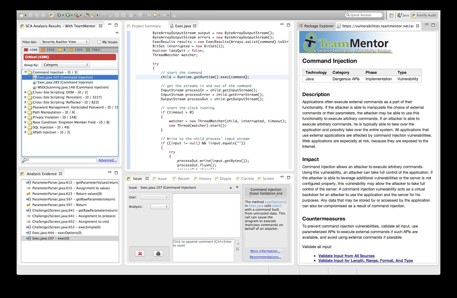 Dinis Cruz Blog: High-Res images of TeamMentor's Fortify integration