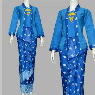 Desain Baju Batik Kantor Wanita Elegan Modern Terbaru