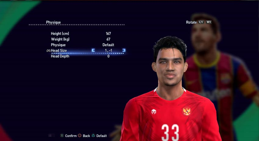 Witan Sulaeman Face For PES 2013