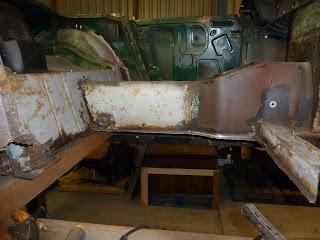 1965 MG Midget MKII Restoration - Floor panel repair preparation