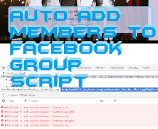 Auto friend adder facebook group script