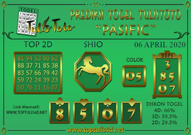 Prediksi Togel PASIFIC TULISTOTO 06 APRIL 2020