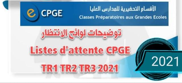 توضيحات هامة لوائح الانتظار التسجيل بالأقسام التحضيرية CPGE 2021