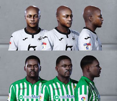 PES 2020 Faces William Carvalho & Andre Ayew by Owen31