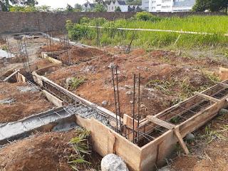 Progress pembangunan rumah contoh di Cluster Sayana Eka Nusa Eka Rasmi Medan Johor