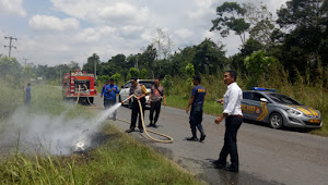 Satu Unit Sepeda Motor Terbakar di Km.11 Jalan Lintas Tebo-Bungo