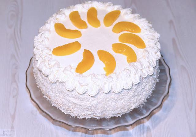 tort z mascarpone brzoskwioniowy smietanowy