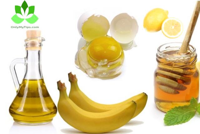 honey, Banana, Egg, Oil, Lemon
